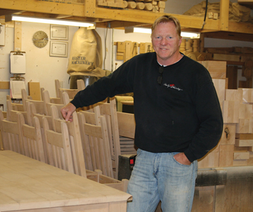 Rick Hopper, owner of Country Woodworks Ltd., says his company is well on the way to becoming a multi-million dollar business