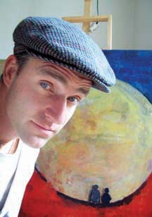 Preview Peak: Johann Wieghardt gives a sneak peek of his painting inspired by Allan Brown's Moon.