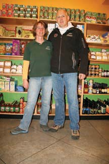 HAPPY AND HEALTHY: Volker and Silke Pfeifer have reopened their Marine Avenue health food store after an August fire forced them to close.